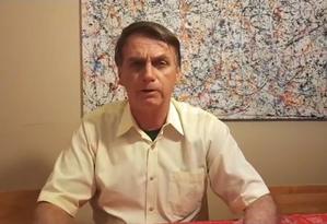 Bolsonaro disse em vídeo que irá agir contra Venezuela e Cuba Foto: Reprodução
