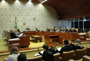 Plenário do STF, durante julgamento Foto: Carlos Moura/STF/13-12-2018