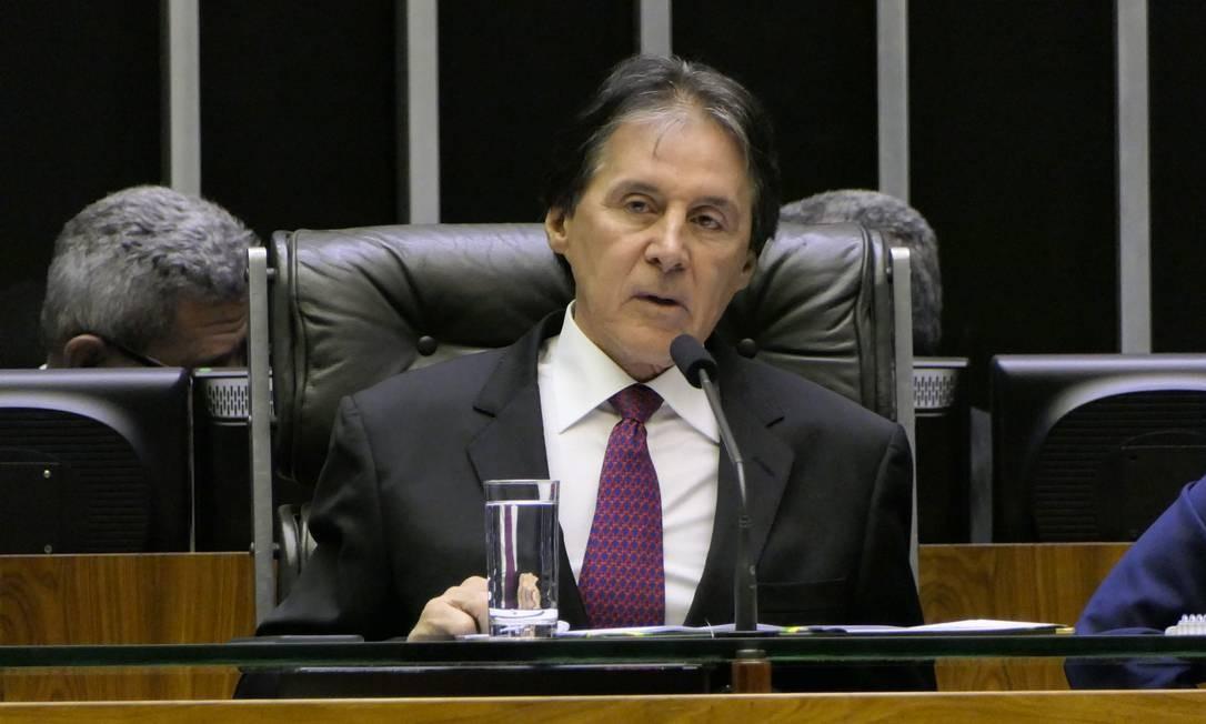 O presidente do Senado, Eunício Oliveira, durante sessão Foto: Roque de Sá/Agência Senado