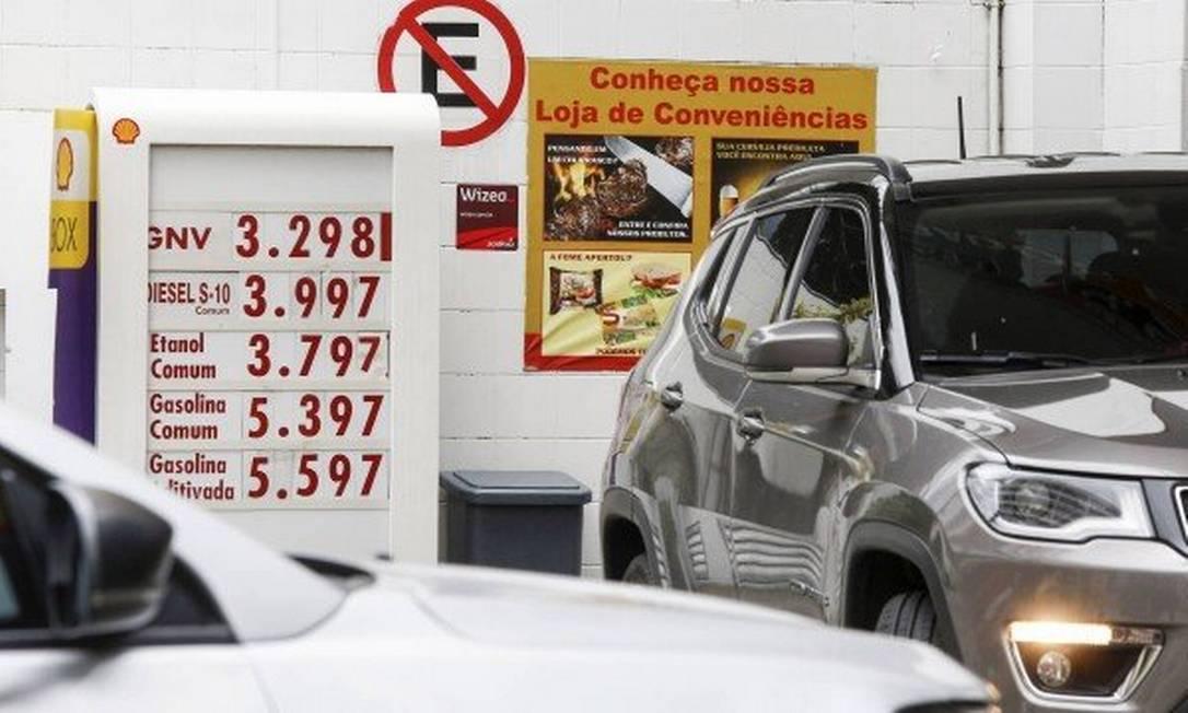 Preços de combustível em posto da Zona Sul do Rio em 07/11/2018 Foto: Marcos Ramos / Agência O Globo