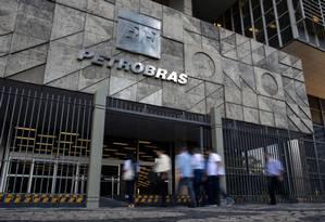 Prédio da Petrobras no centro do Rio de Janeiro Foto: Mauro Pimentel / AFP