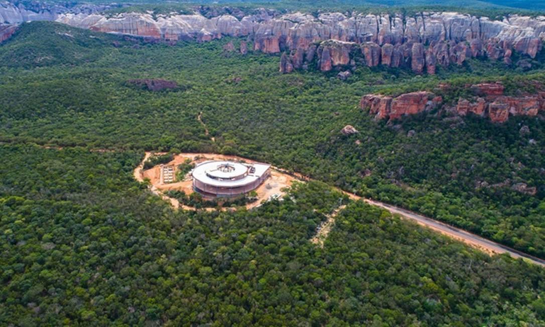 Visão do Museu da Natureza, no Parque Nacional da Serra da Capivara Foto: Divulgação