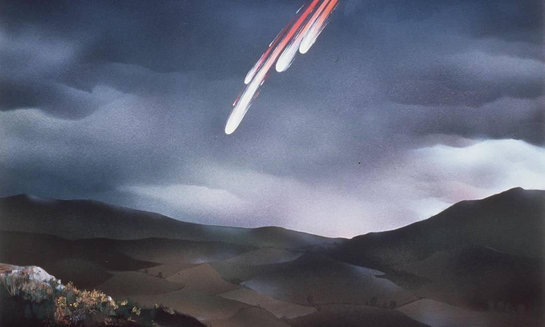 Imagem de meteorito caindo Foto: Reprodução