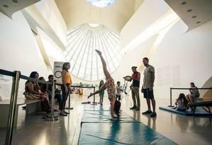 Museu do Amanhã: oficina de acrobacia Foto: Divulgação