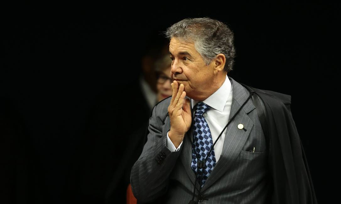 Ministro Marco Aurélio Mello no plenário do Supremo Foto: Jorge William / Agência O Globo