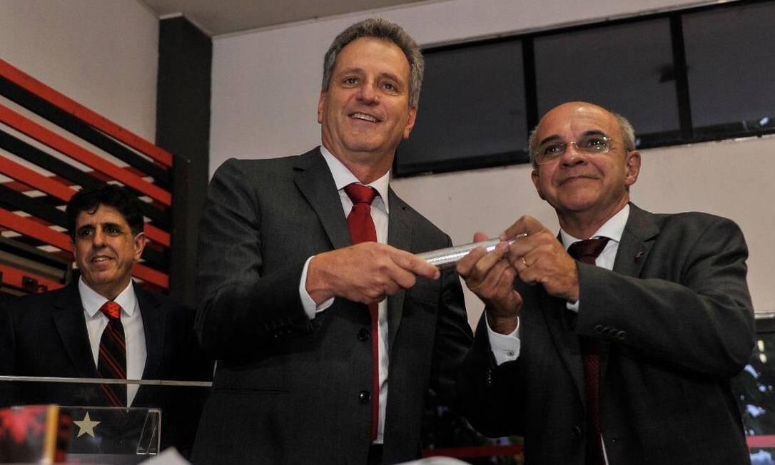 Rodolfo Landim foi empossado como novo presidente do Flamengo Foto: Alexandre Vidal/Divulgação