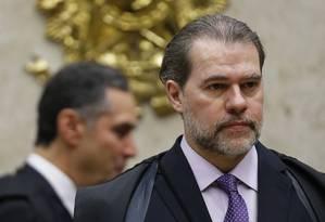 O presidente do STF, Dias Toffoli Foto: Jorge William / Agência O Globo