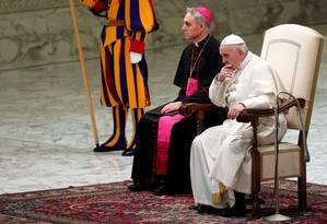 Papa Francisco durante audiência geral no Vaticano Foto: MAX ROSSI / REUTERS