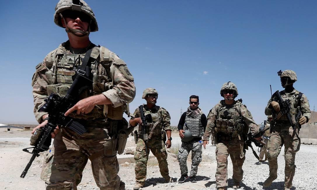 Tropas americanas continuam na região após quase vinte anos de conflito Foto: Omar Sobhani / REUTERS