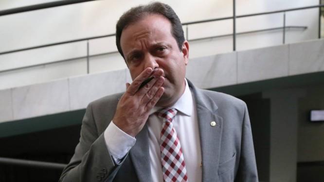 O líder do governo na Câmara, deputado André Moura (PSC-SE) nos corredores da Câmara dos Deputados Foto: Ailton de Freitas / Agência O Globo 20/02/2017