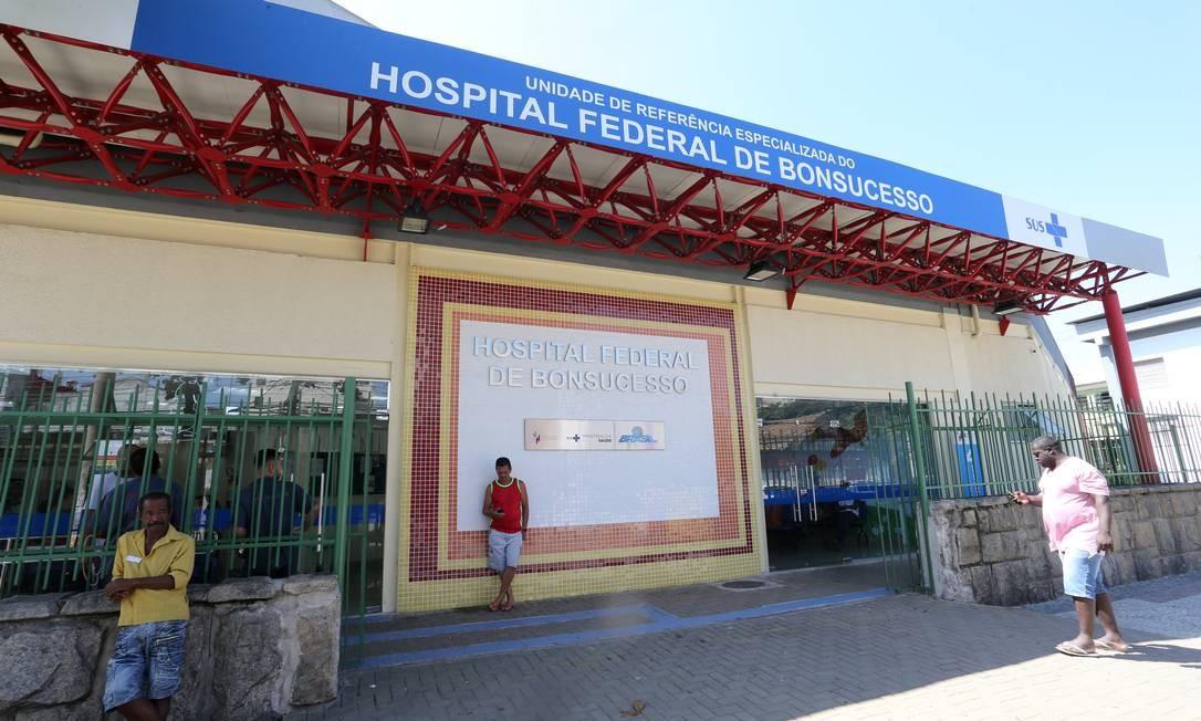 Hospital de Bonsucesso é uma das seis unidades federais no Rio Foto: Guilherme Pinto / Agência O Globo