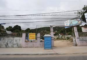 Terreno na entrada do Morro da Boa Esperança será desapropriado com recursos previstos em emenda Foto: Marcio Alves / Agência O Globo