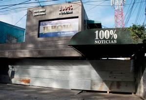 Polícia Nacional da Nicarágua fechou acessos ao canal fechado 100% Notícias Foto: Maynor Valenzuela/AFP