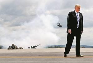 Presidente dos Estados Unidos é escolhido pela terceira vez consecutiva personagem do ano pelo GDA Foto: CARLOS BARRIA/Reuters