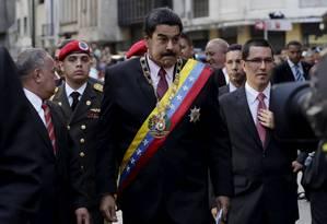 Presidente venezuelano, Nicolás Maduro. Governo em Caracas anunciou que chamará embaixador em Guiana para consultas Foto: Jorge Lopez / REUTERS