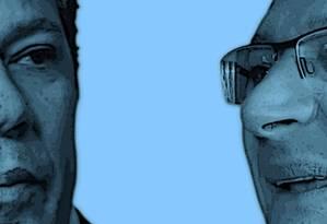 O ex-prefeito Fernando Haddad e o ex-governador Geraldo Alckmin Foto: Arte / O Globo