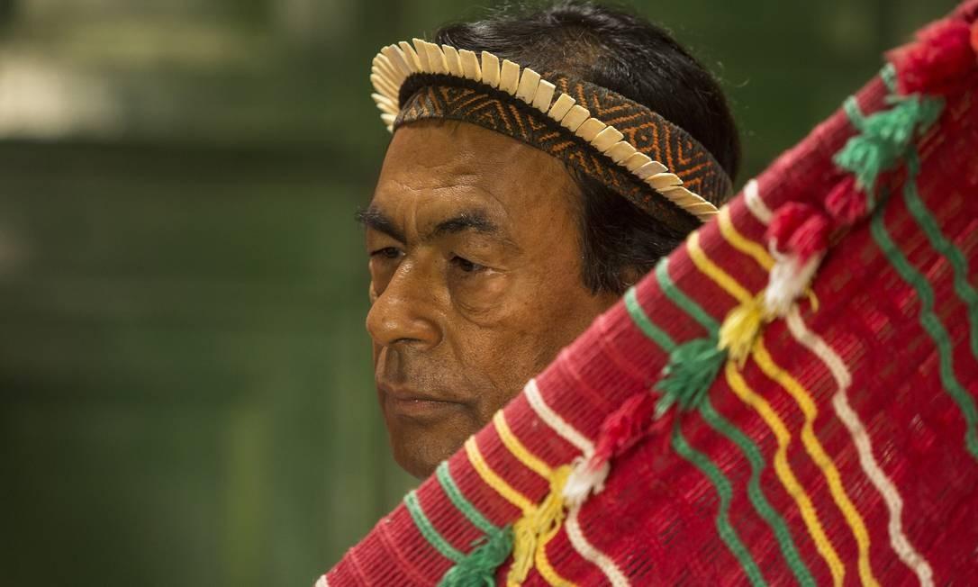O líder indígena Ailton Krenak Foto: Ana Branco / Agência O Globo