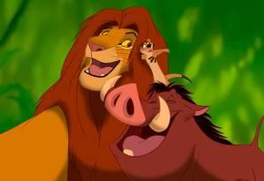 Simba, Timão e Pumba: registro de