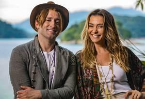 Paulo Gustavo e Monica Martelli, juntos em 'Minha vida em Marte' Foto: Ique Esteves / Divulgação