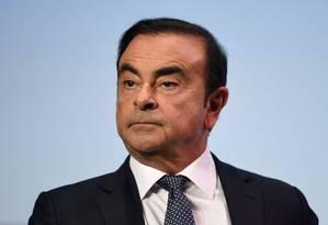 Carlos Ghosn, ex-presidente do Conselho de Administração da Nissan Foto: ERIC PIERMONT / Eric Piermont/AFP/1-10-2018