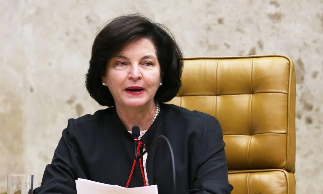 A procuradora-Geral da República, Raquel Dodge, durante sessão no STF Foto: Ailton de Freitas / Agência O Globo/04-10-2018