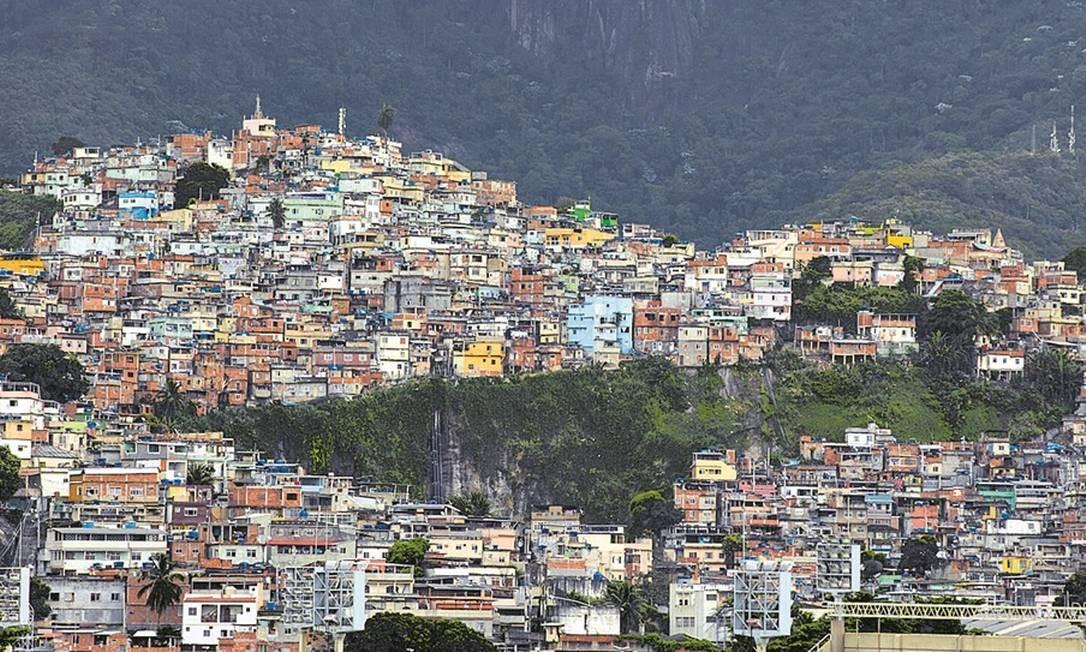 A comunidade do Catumbi tem, de acordo com a Defesa Civil, localidades suscetíveis a desastres Foto: Agência O Globo