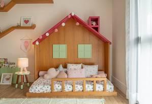 Modelo de minicama da AbraCadabra: casa de jardim desenhada pela Cores Arquitetura Foto: Divulgação