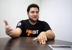 Guto Schiavon foi um dos fundadores da Foxbit em 2014, considerada uma das maiores corretoras de bitcoin do país. Foto: Marcelo Brandt/G1