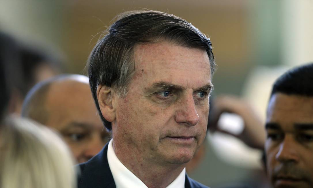 O presidente eleito, Jair Bolsonaro, durante evento no dia 11 de dezembro de 2018 Foto: Jorge William / Agência O Globo