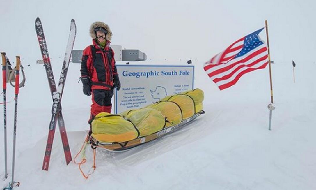 Americano atravessou continente congelado a pé em 54 dias Foto: Reprodução/Instagram