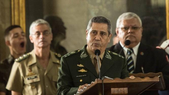 General Braga Netto na cerimônia de encerramento da Intervenção Federal na Segurança do Rio Foto: Brenno Carvalho / Agência O Globo