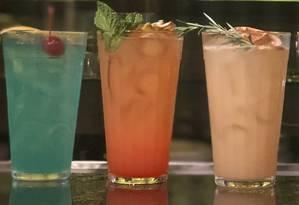Cardápio interativo. Os novos drinques do Bar Garoa são preparados com rum, cachaça ou vodca Foto: Divulgação