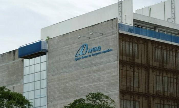 Fachada do prédio da Agência Nacional de Transportes Aquaviários (Antaq) Foto: Divulgação / ANTAQ