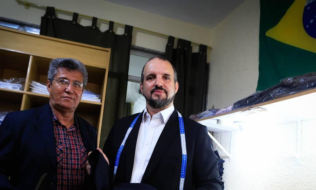 Maxwell e Santino Gerbatim Foto: Roberto Moreyra / Agência O Globo