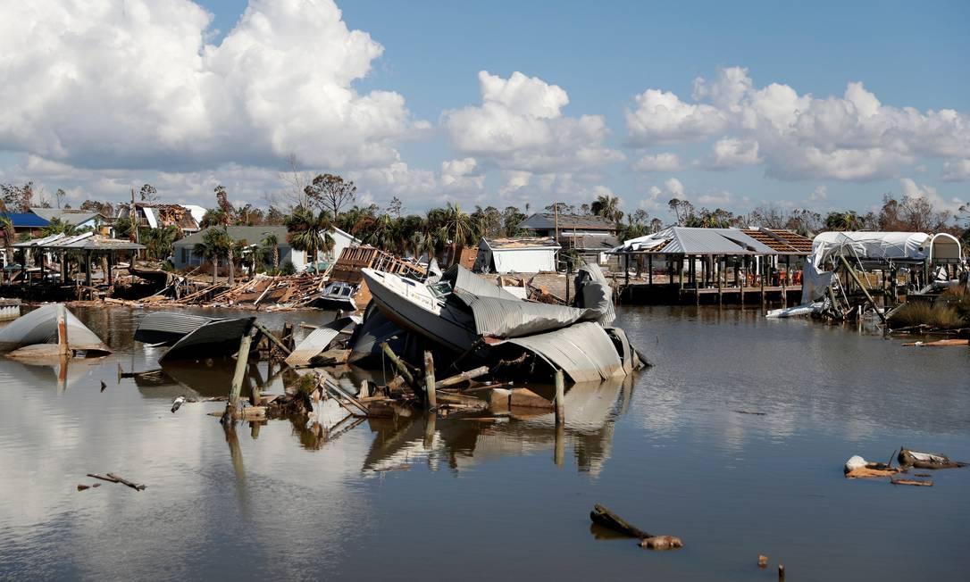 Quatro dos dez desastres mais caros custaram mais de US$ 7 bilhões Foto: Terray Sylvester / Reuters