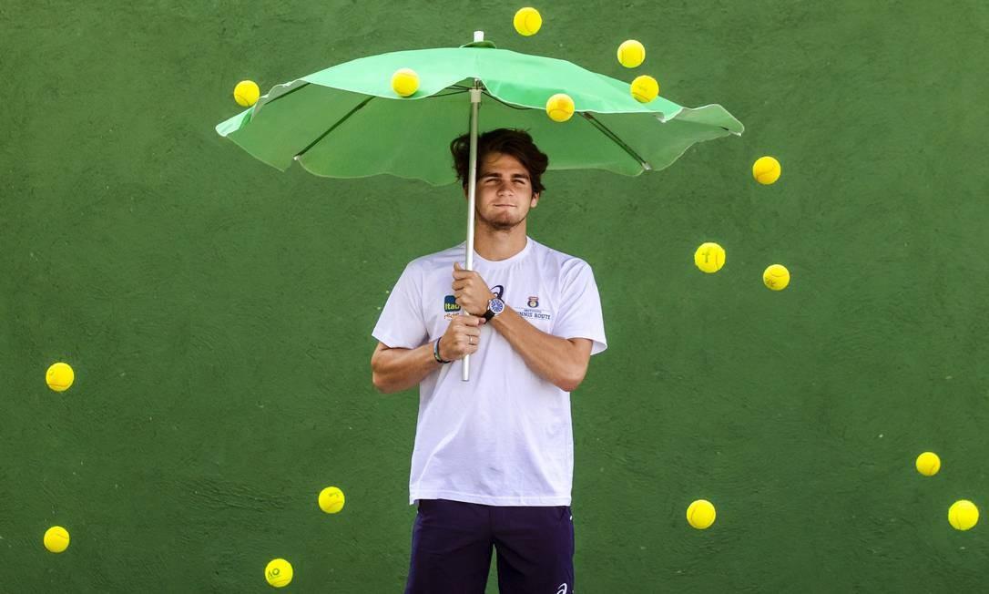 12/09/2018 - Entrevista com Thiago Wild, primeiro tenista brasileiro a vencer o US Open juvenil. Foto: Leo Martins / Agência O Globo