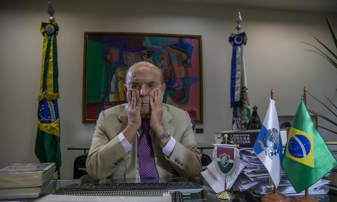 Entrevista com o governador em exercício do Rio, Francisco Dornelles (PP), ele assumiu o Governo do Estado após a prisão do governador Luiz Fernando Pezão. Foto: Marcelo Régua / Agência O Globo