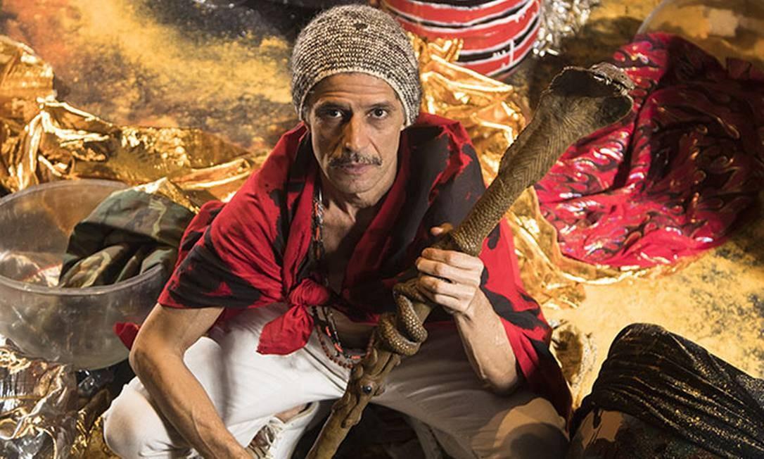 Cabelo, artista Plastico e musico, no BNDES Foto: Ana Branco / Agência O Globo