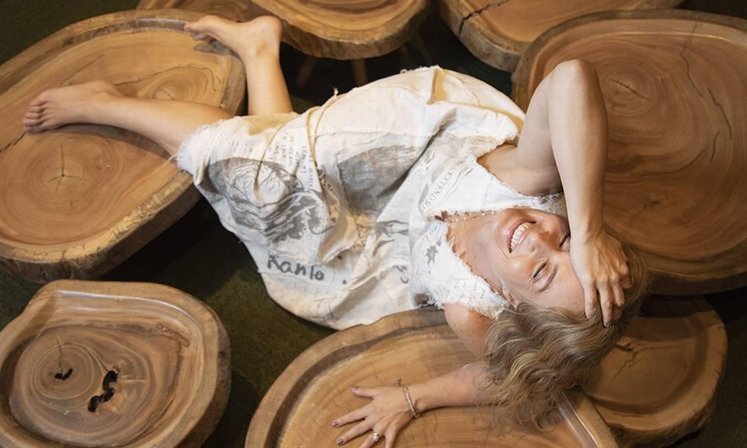 A apresentadora Angélica em sua casa no Joa. Foto: Ana Branco / Agência O Globo