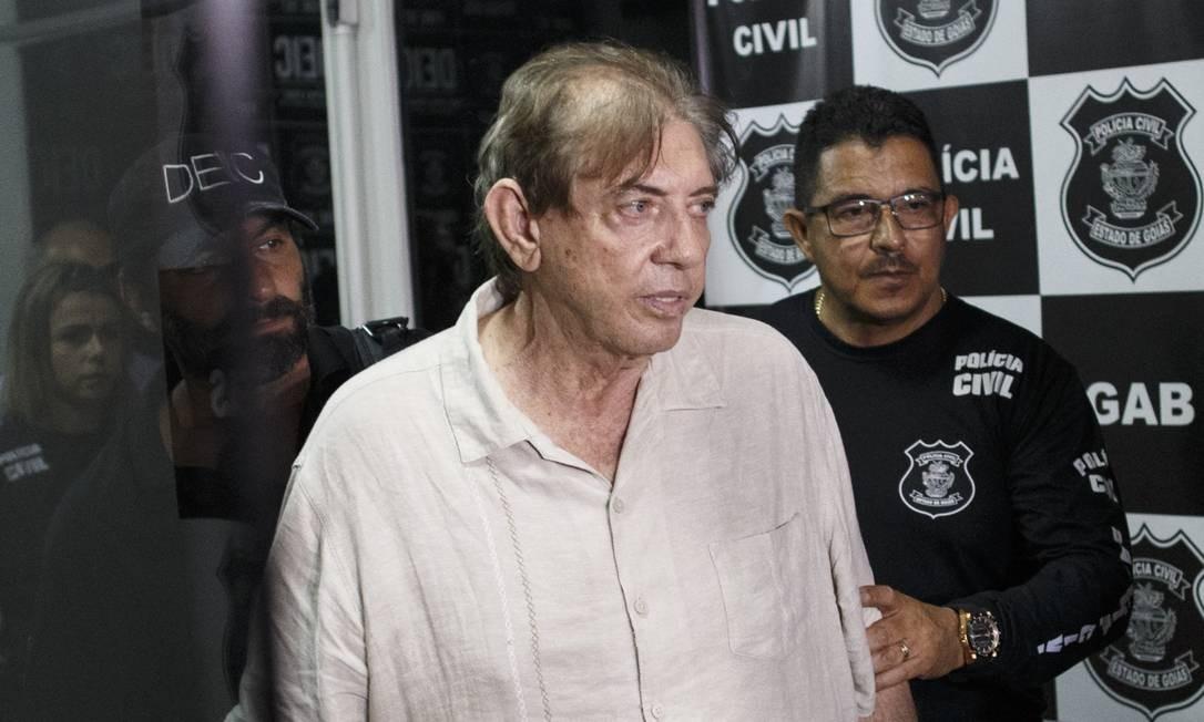 João Teixeira de Faria, o médium conhecido como João de Deus, pouco após ser preso Foto: Daniel Marenco / Agência O Globo/16-12-2018