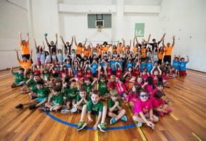 Pequenos em ação: a rede Bodytech aproveitou a estrutura para criar atividades específicas para as crianças Foto: Divulgação