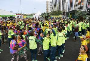 Atletas do Time Brasil durante os Jogos Olímpicos de 2016 Foto: Ivan Alvarado / Reuters