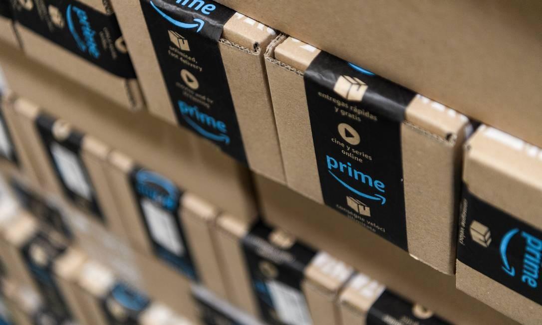 Pacotes da Amazon, no Reino Unido Foto: Leon Neal / Getty Images