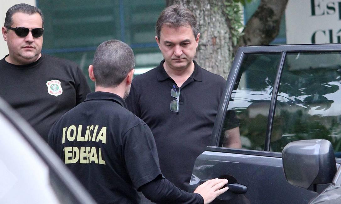 Joesley Batista ao ser preso em novembro Foto: Willian Moreira / Agência O Globo