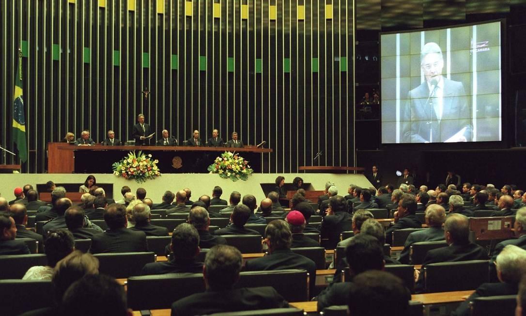 No Congresso, FH fez novo discurso aos parlamentares e à nação 01/01/1999 Foto: Ailton de Freitas/ Agência O GLOBO