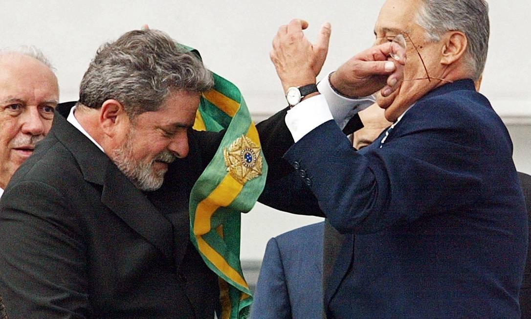 Em 2002, Luiz Inacio Lula da Silva foi eleito para o seu primeiro mandato como presidente 01/01/2003 Foto: Vanderlei Almeida/ AFP PHOTO