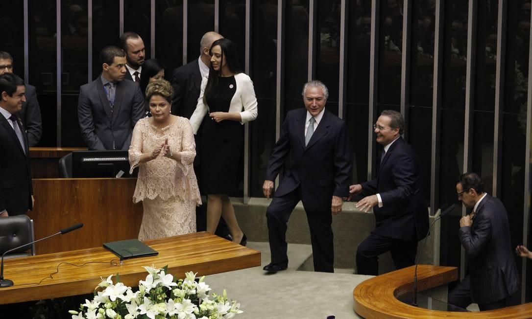 E também discursou no Congresso Foto: Givaldo Barbosa / Givaldo Barbosa/Agência O Globo