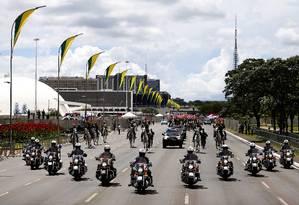Batedores fazem ensaio para a posse de Bolsonaro dia 1º Foto: Jorge William / Agência O Globo