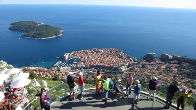 Dubrovnik, na Croácia, vista de cima Foto: Cristina Massari / O Globo