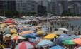 Com calor e tempo firme, praias do Rio ficam lotadas nesta segunda-feira